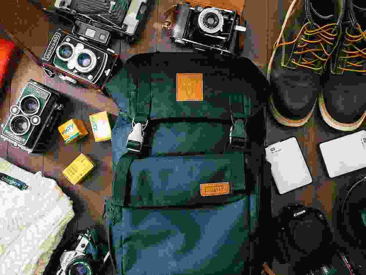 Knapsack & Cameras